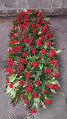 Red Rose Coffin Spray