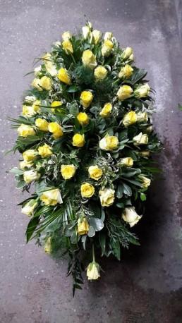Yellow Rose Coffin Spray