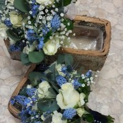 Blue and Cream Posy