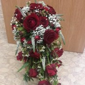 Red Rose Shower Bouquet