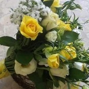 Yellow and White Wedding Posy
