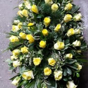 Yellow Rose Coffin Spray