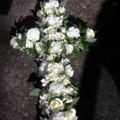 White and Cream cross