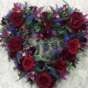 Red and Purple open heart